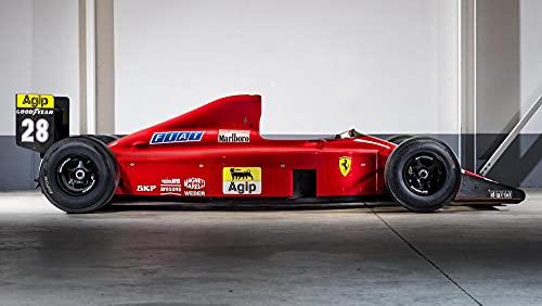 Coche De Fórmula 1 Ferrari F1 Kit de pintura con brillantes 5D, DIY pintura al oleo por numerosdiseño con diamantes de imitación, para decoración de la pared del hogar 40x60cm