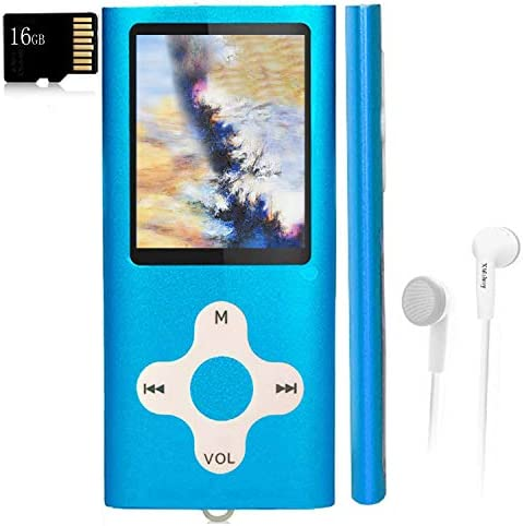 Mp3 Player Music Player with a 16 GB Memory Card Portable Digital Music Player Video Voice Record product image