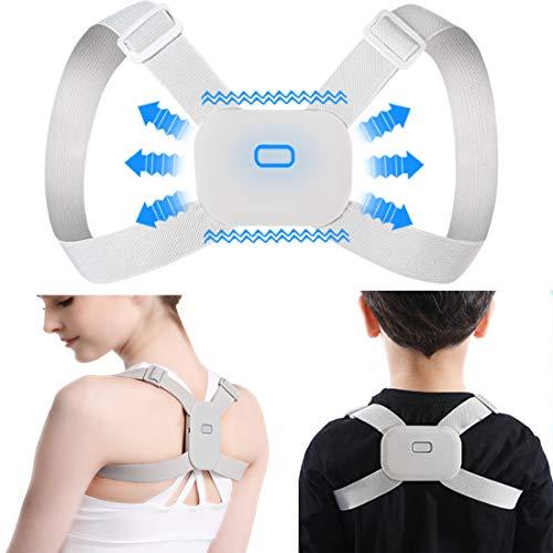 Posture Corrector for Men Women, Adjustable Upper Back Brace Straightener/w Smart Sensor Vibration Reminder Posture Correction Spine/Back Clavicle Support, Back Shoulder Neck Pain Relief