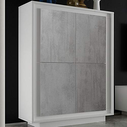 Design dressoir wit gelakt en betonlook ERINE 7