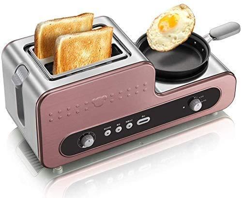 Allamp Tostadora, Desayuno máquina, a la Plancha tostadora, Huevo, Tortilla, Acero Inoxidable, Parrilla Externa, Anti-chirrido Botón lxhff