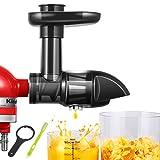AMZCHEF Accesorio Extractores de zumo, Licuadora Prensado en Frio, Licuadora Frutas Verduras, Adecuado para batidora KitchenAid, Limpieza Fácil con Cepillo, sin BPA