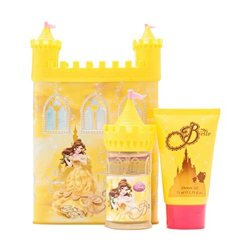 Disney Coffret de Parfum + Gel Douche Version Château Tirelire Métallique Princess Belle