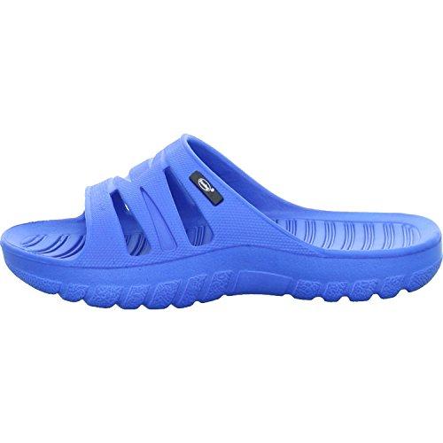Fashy Kinder-Ultraleicht-Pantolette Unisex - Kinder Dusch- & Badeschuhe Blau Badelatschen (35)