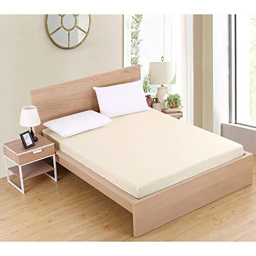 YUIO® Komfortable große Größe Matratzenbezug für den Heimgebrauch Einfarbig Wasserdichter staubdichter Matratzenschoner Bettbezug für Matratze (beige gelb)