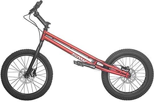 MU 20 Pollici Bmx Trial Bike/Bike Trial per Principianti Ed Esperti, Crmo Telaio e Forcella, con Brake,Rosso,Versione Standard