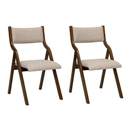 Ball & Cast Kitchen room Dining chair foldable 18 Inch Taupe Set of 2
