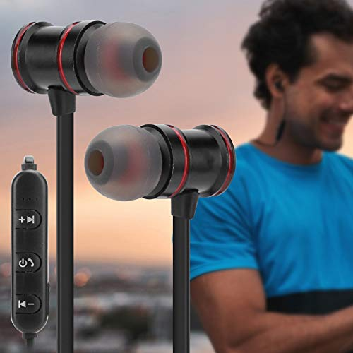 Qinyayoa Auricular estéreo, Auricular Bluetooth portátil ergonómico K117, Volumen Ajustable para Senderismo Montañismo Correr Caminar
