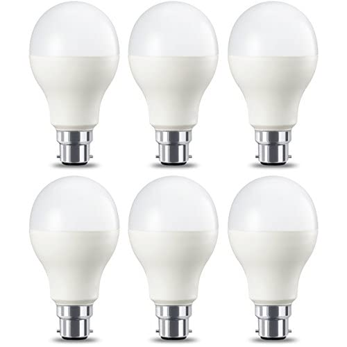 AmazonBasics Lampadina LED B22, 14W (equivalenti a 100W), Luce Bianca Calda, Dimmerabile- Pacco da 6