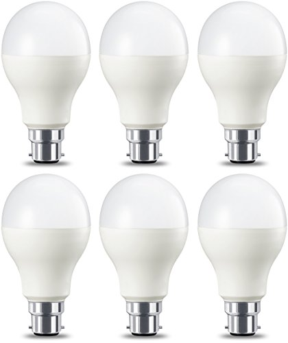 AmazonBasics Bombilla LED B22, 14W (equivalente a 100W), Blanco Cálido, Regulable- 6 unidades
