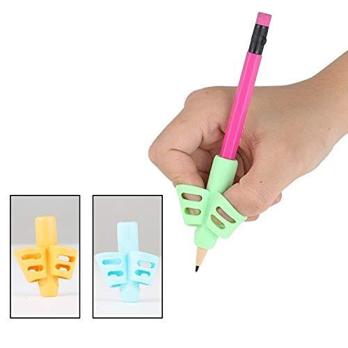 Schreibwarenbox, Kinder Bleistifthalter Hilfe Lernen Stift Schreiben Werkzeug Baby 3-Finger-Griff Silikon-Korrektur-Werkzeuge Übungsgerät Postures