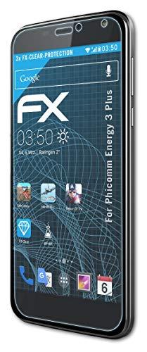 atFolix Schutzfolie kompatibel mit Phicomm Energy 3 Plus Folie, ultraklare FX Bildschirmschutzfolie (3X)