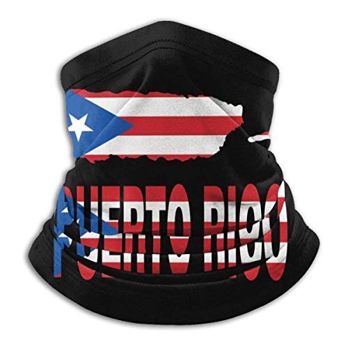 Pasamontañas con texto en inglés de Puerto Rico para hombre, mujer, cuello transpirable, para protección de gérmenes y polvo, pañuelos y bufandas