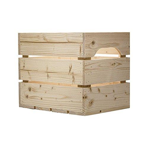 Simply a Box Caisse en Bois 1/2LARGE (L.27 x l.36 x h.30) Fabriquée Main en France