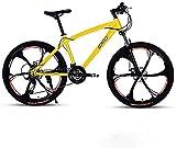 CHHD Adulto 26 Pulgadas Bicicleta de montaña Playa owmobile Bicicleta de montaña Freno de Disco Doble Bicicleta de montaña Ruedas de aleación de Aluminio Hombre Mujer Uso General