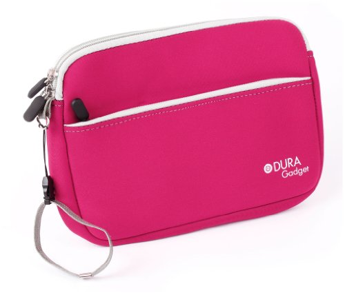 DURAGADGET Funda De Neopreno Rosa para La Tablet IngoKids 4GB - con Bolsillo Exterior para Guardar Más Objetos