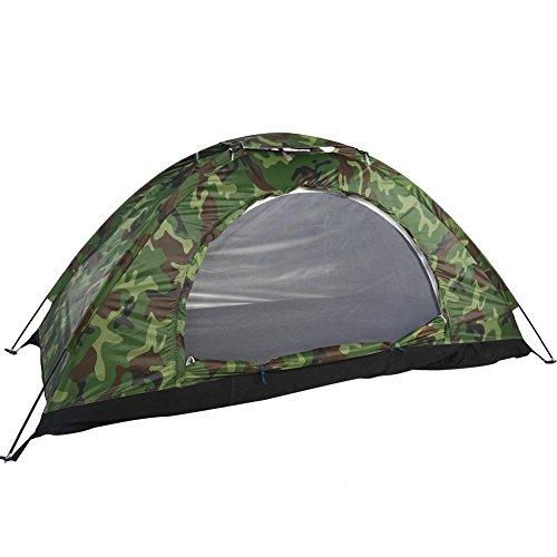 Yencoly Zelt Camouflage Patterns Campingzelt, Outdoor Camouflage UV-Schutz Wasserdichtes Einpersonen-Zelt für Camping-, Rucksack-, Wander- und Outdoor-Musikfestivals von Wakeman Outdoors