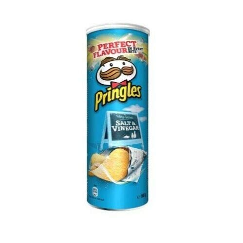 Pringles Salt & Vinegar Patatine Salz & Essig 160g Kartoffel chips