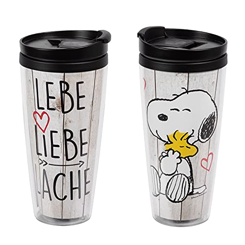 United Labels Snoopy Kaffeebecher Lebe. Liebe. Lache, 250 ml, Becher to go