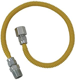Brasscraft CSSL54-60 ProCoat Straight Connector Gas Dryer & Water Heater Flex-Line (3/8