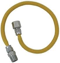 Brasscraft CSSL54-60 ProCoat Straight Connector Gas Dryer & Water Heater Flex-Line (3/8