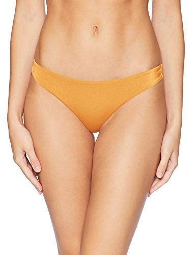 RVCA Damen SOLID Shimmer Cheeky Bikini Bottom Bikinihose, Lametta, X-Large