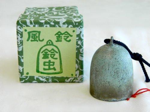 Carillon à vent japonais fait main d'Odawara - Grillons et cloches (Papier beu ciel)