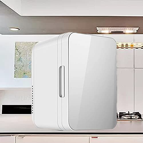 KCSds Mini 2 en 1 - Refrigerador, Refrigerador Personal Compacto Refrigerador y Calentador Mini congelador de una Sola Puerta, Alimentos portátiles Medicamentos Almacenamiento de Maquillaje para