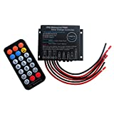 HUINETUL 10A IP68 Waterproof Solar Charge Controller Lithium Ion Lifepo4 Lead Acid Battery 12V 24V PWM Charge Controller with IR Remote Control for 24hrs Dust to Dawn Timer