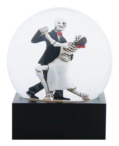 Skeleton Tango Dancers Water Globe