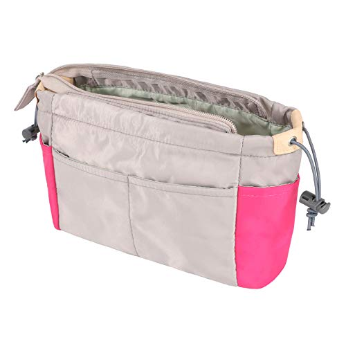 Joqixon Taschenorganizer aus Nylon, Farbabstimmung Handtaschen Organizer Bag in The Bag für Damen,Innentaschen für Handtaschen mit Reißverschluss