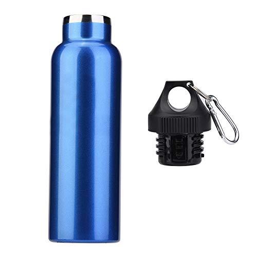 Filfeel Thermos Bottiglia d'Acqua in Acciaio Inossidabile All'aperto Bottiglia di Sportiva d'Acqua a Doppia Parete Tazza Thermos Sottovuoto per Viaggi, 600ML(Blu)