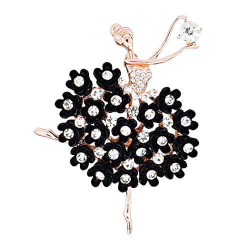 Premewish Women Brooch, Elegant Alloy Brooch Pin, Ballerina Dancing Girl Brooch