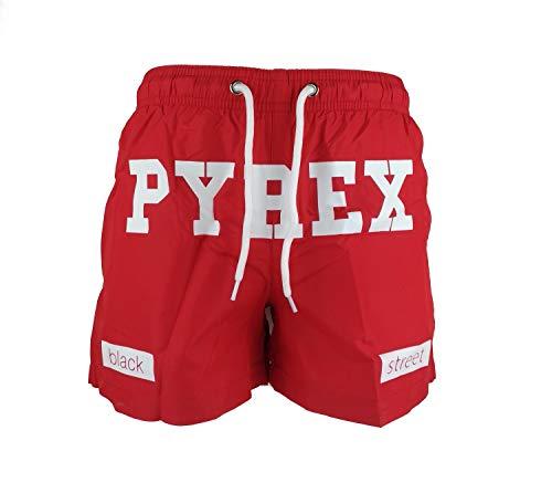 PYREX Costume Boxer Rosso con Scritta Bianca