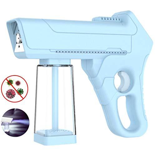 EMGOD Pulvérisateur Électrostatique, Portable Pompe Électrique Pulvérisateur, Haute Température Nano Atomisation Buse Vortex 5 Vitesses Réglable, Largement Utilisé Vaporiser Désinfection,Bleu