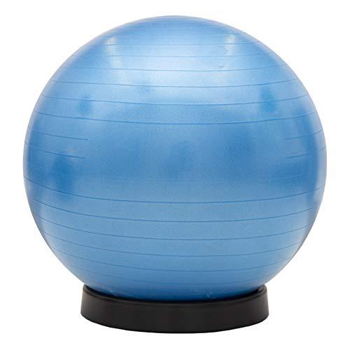 maxVitalis Gymnastikball inkl. Ballschale Fitnessball Sitzball Fitness Ball Yogaball Sportball Anti-Burst Gymnastikball Büroball 55 cm Blau