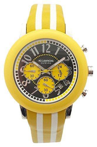 K&Bros Orologio Cronografo Quarzo Uomo con Cinturino in Pelle 9427-3-710