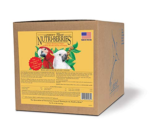 LAFEBER'S Classic Nutri-Berries Pet Bird Food, Made with Non-GMO and Human-Grade Ingredients, for...