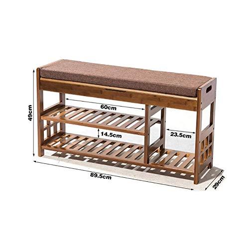GENFALIN Los estantes for el hogar, la Sala del umbral de Almacenamiento en Rack-Shoes Banco de bambú Botas Zapatos Rack Rack de Almacenamiento en Rack multifuncionales