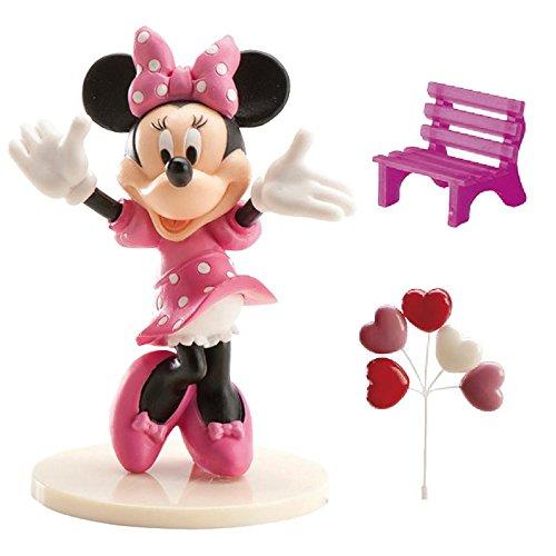 dekora 302012 Minnie Mouse Figur für Torte, Kunststoff, Rose, 4 x 10 x 23 cm