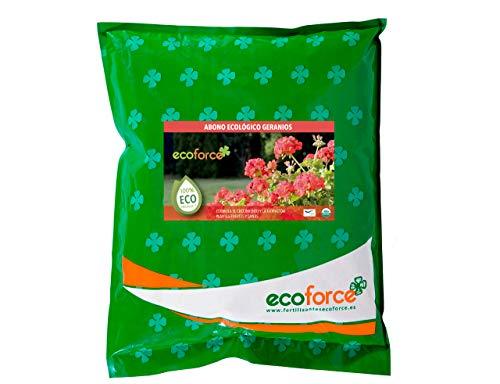 CULTIVERS Abono Especial Geranios y Plantas con Flor de 5 kg. Fertilizante ecológico Potencia la Floración y Aroma de Las Flores. Origen 100% orgánico y Vegano. (5 Kg)