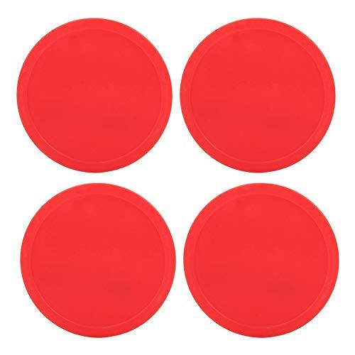Alomejor 4 Stücke Air Hockey Paddel Air Ice Hockey Pucks Ersatz Air Hockey Tisch Red Pucks für Spieltische Arcade-Spiel(75mm)