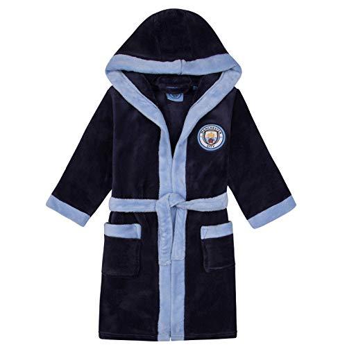Manchester City FC - Batín oficial con capucha - Para niño - Forro polar