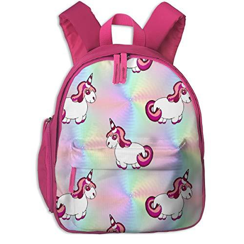 Kinderrucksack mädchen,Unicorn and Rainbow_5970 - Stofftoy, Für Kinderschulen Oxfordstoff (pink)