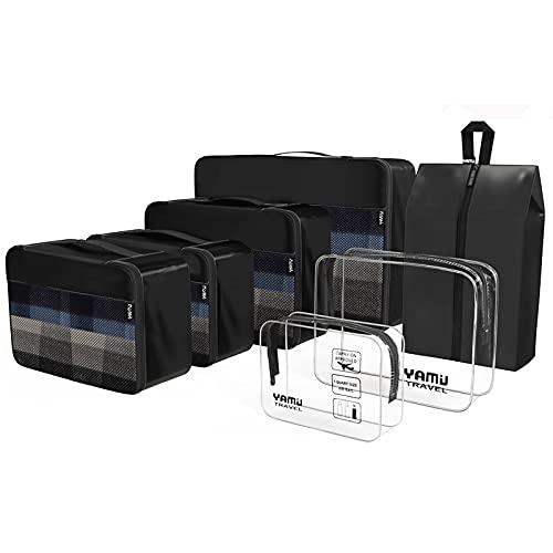 YAMIU Packing Cubes 7-Pcs Travel Organizer Accessories