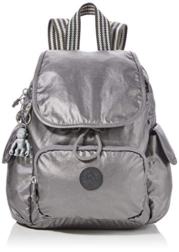 Kipling Damen City Pack Mini Rucksack, Schwarz (Carbon Metallic), 27x29x14 Centimeters