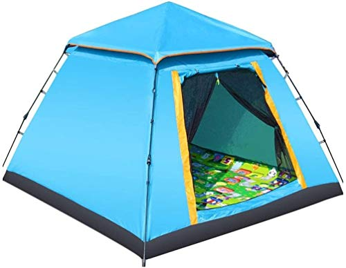 LAZ Tent Fully Automatic Folding Family Outdoor Tent Double Rainproof Sunscreen Tent Camping Travel Tent Family Tent (Color : C)