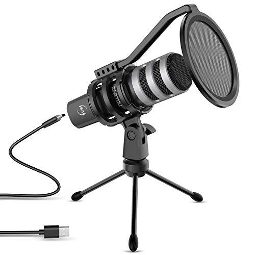 Computer USB Microphone ZINGYOU Condenser Mic Bundle for Vocal Recording...