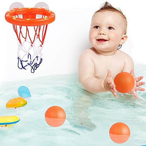 kidoola Fun Bath Basketball Spielzeug Hoop & Ball Set für Jungen & Mädchen, Kid & Kleinkind Geschenkset 3 Bälle inkl.