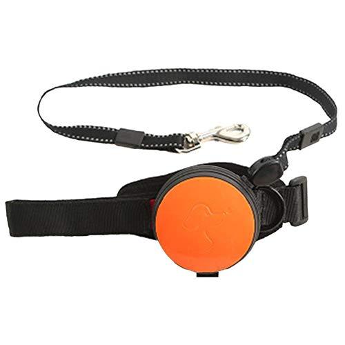 Hundeleine für Hunde, einziehbar, ausziehbar, automatische Hundeleine, 3 m Nylon-Material, für große und mittelgroße Hunde zum Trainieren, Spazieren, Joggen, Orange, 7CM*3M